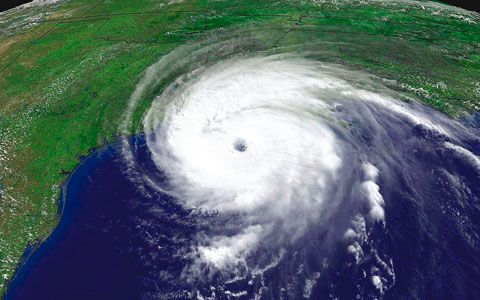 Hurricane Rita Sept 23, 2005 - right as she was approaching our home, of which we were out of for one year. Scary storm she was.