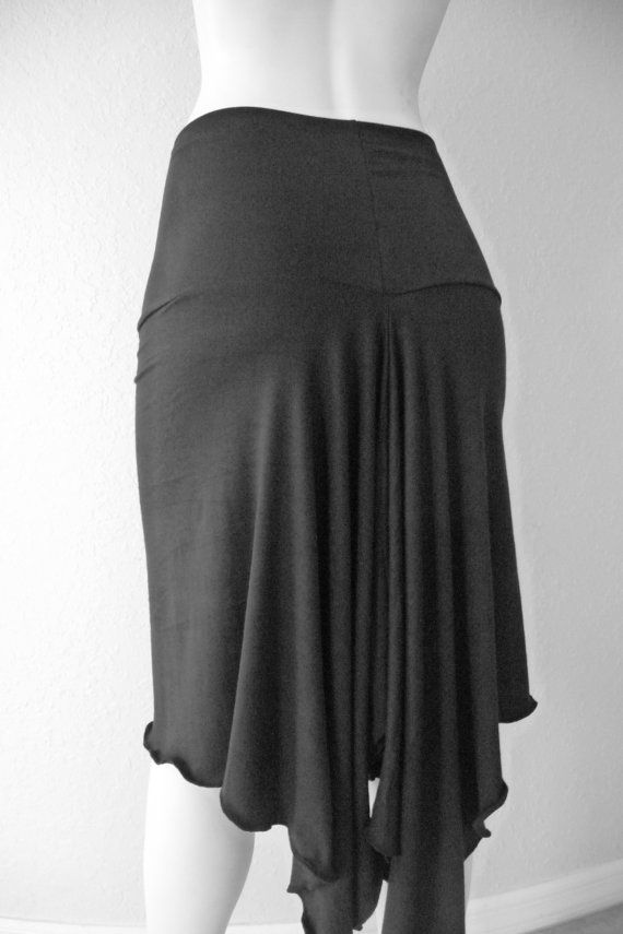 Tango & Salsa Skirt black all Sizes to Order by COCOsDANCEWEAR