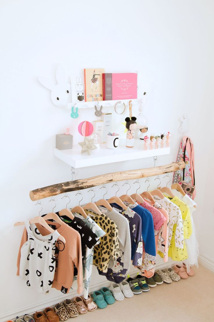 A beautifully organised and bright nursery. #baby