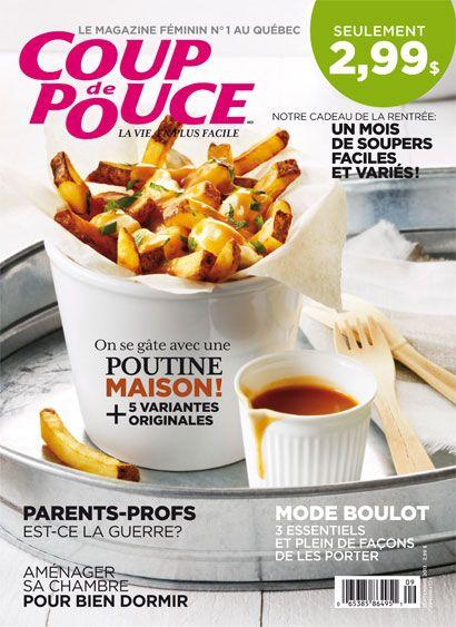 Notre couverture du numéro de septembre 2013 : une délicieuse poutine maison!