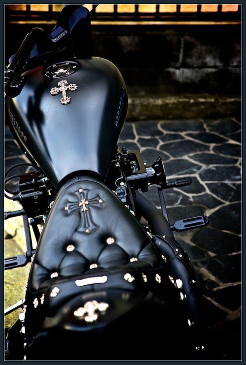 faustinepau:  Customized gothic motorcycle If James Purefoy form 'Ironclad' rode a motorcycle?