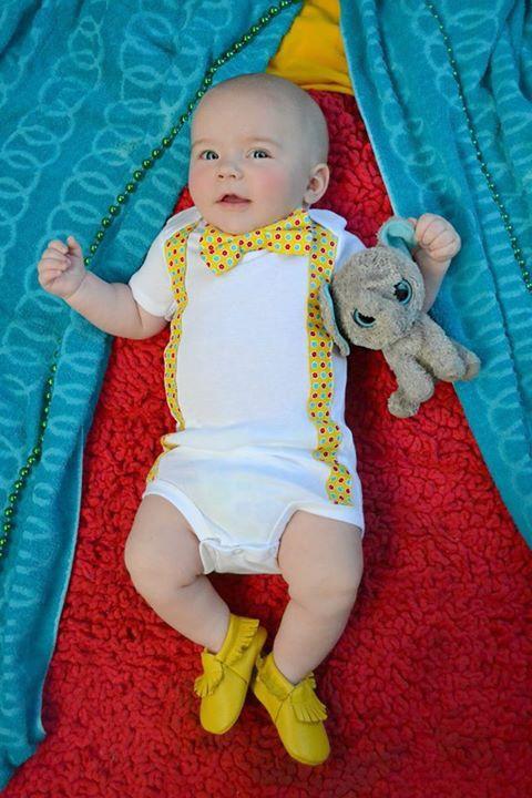 Waylon James   Ackee Tree Company   Onzie  Circus  Suspender  Bow tie   Mustard Mocs  Mocks   Baby fashion  Kid fashion