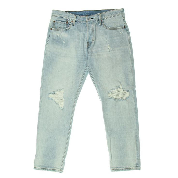 Levi's Womens Destroyed Original Fit Tapered Leg Jeans