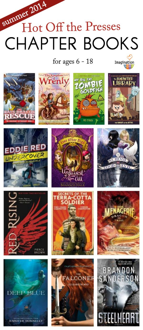 GREAT list of newly published chapter books + reviews via Imagination Soup