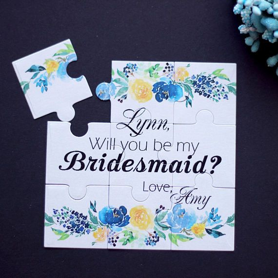 Personalized Puzzle Will You Be My Bridesmaid Will You be My
