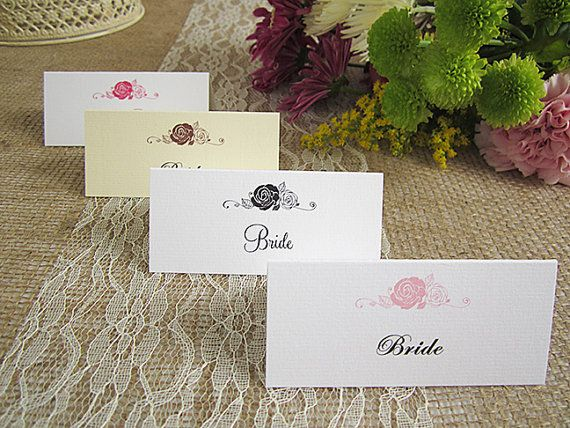 8 best wedding guest place name cards images on pinterest for Make your own wedding place cards