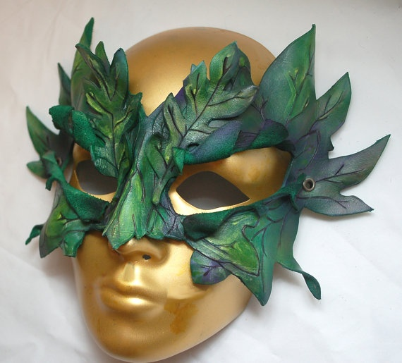 Forest Dryad Woodland Leather Greenman or Greenwoman by PlatyMorph, $75.00 #thefoxesdenteam @Lucinda Myer @
