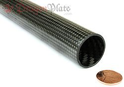 Dragonplate high modulus braided tubes utilize a combination of high modulus uni-directional carbon fiber for axial and bending stiffness and standard modulus braided carbon fiber for torsional rigi