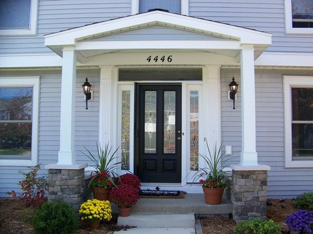 89 best images about porch on pinterest front stoop for Front porch add ons
