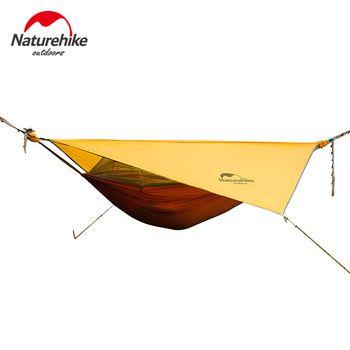 Naturehike rede portátil camping hammock com mosquiteiros única pessoa rede balanço cinza orange