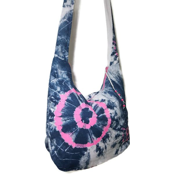 Tie dye hobo bag, tie dye purse, festival purse, festival bag, hippie... ($50) ❤ liked on Polyvore featuring bags, handbags and shoulder bags