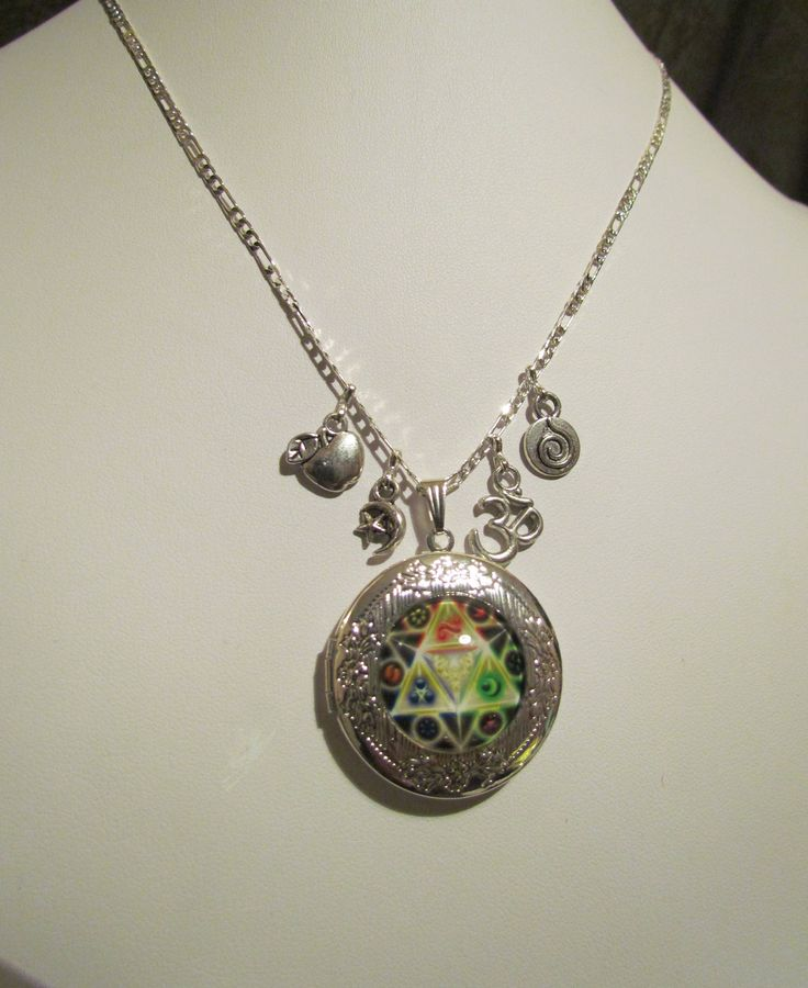Goddess Locket Essential Oil Diffuser Pendant With Charms & Spare Felt Pads. by MoirasJewelleryBox on Etsy