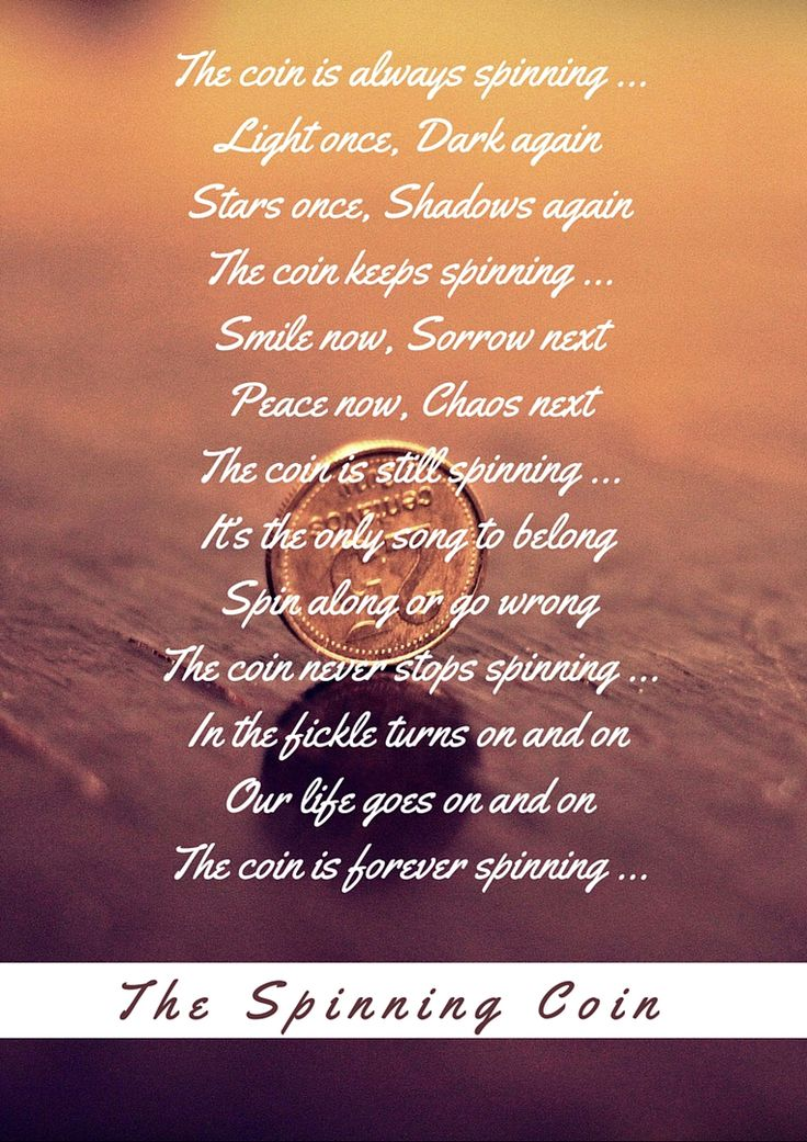 The Spinning Coin #Poem #Poetry #Life