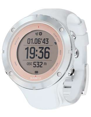 Suunto Ambit 3 Sport Sapphire Training Watch - White with Blush Bezel