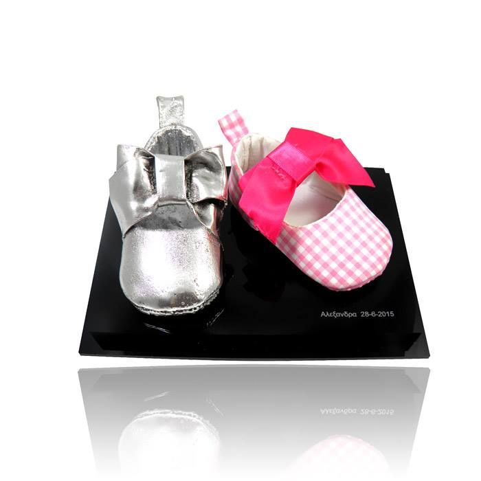 Your baby's first shoes coated with silver. Keep them and make a piece of art out of them! By Shine4ever.gr!