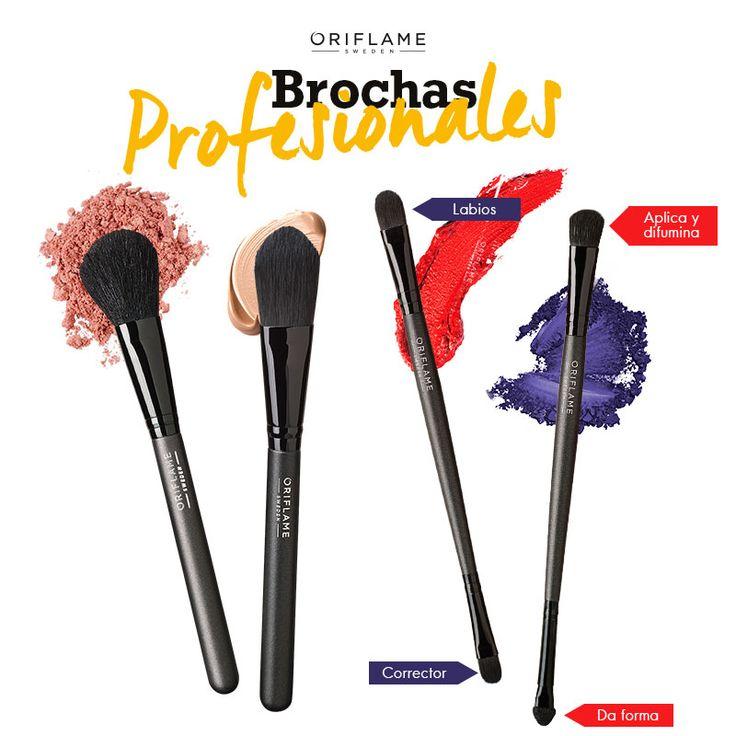 Los dedos son una gran herramienta para maquillar, pero si buscas un resultado más definido y perfecto, ¡ten siempre tus #brochas a mano! #OriflameMX
