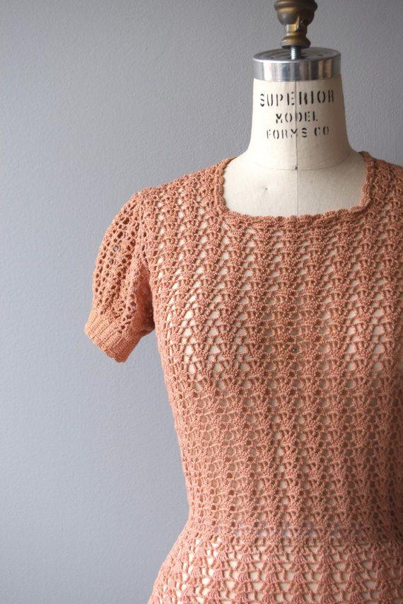 Maglione rosa corallo  maglia vintage anni 1930  maglione di