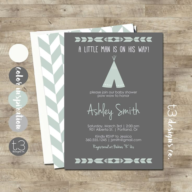 TEEPEE Baby Shower Invitation Indian Baby shower