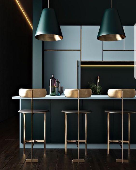 21 Inspirations Deco Pour Une Cuisine De Reve Kitchentable Kitchentableandchairs Kitchentablei Gold Dining Room Home Decor Kitchen Contemporary Kitchen