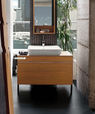 Open Life Washbasin and Teak Bathroom ...  livinghouse.co.uk