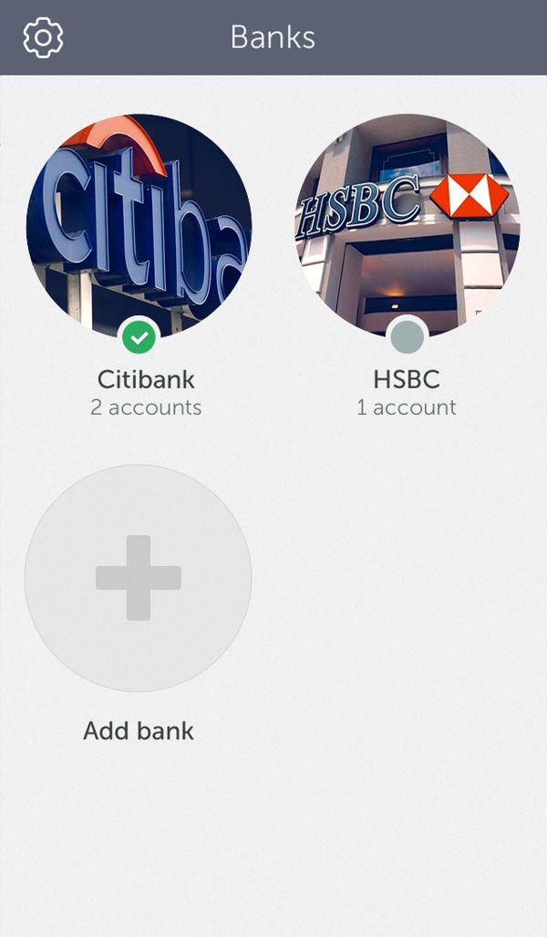 Concept idea of banking app by Cuberto, via Behance