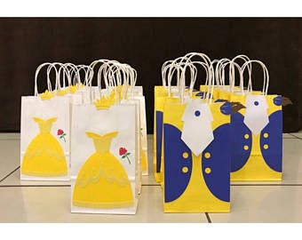 Beauty and the Beast Party Bags (Belle & Beast).