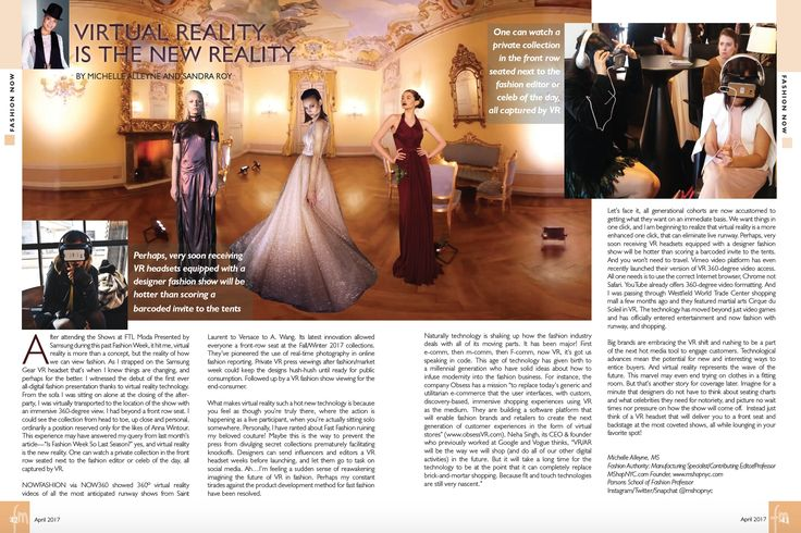 Virtual Reality is the New Reality - Fashion Mannuscript April 2014
