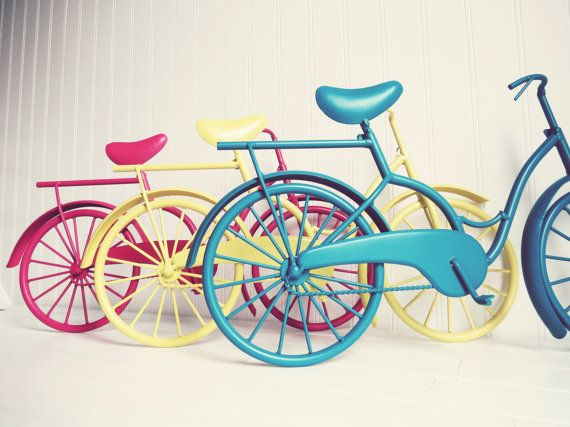 Pick Your Color / Metal Bike Art / Beach Decor / by WillowsGrace, $32.00
