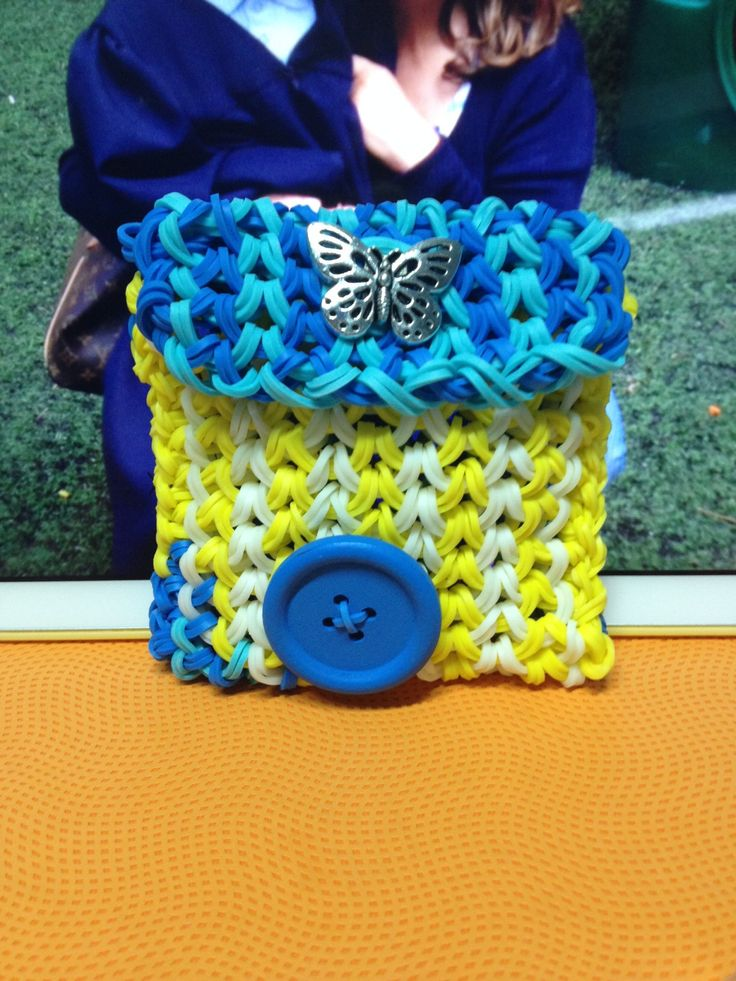 Mini purse  Tutorial by Craft Life Rainbow Loom Mini Purse Craft Life