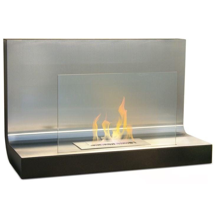 Bio camino bioetanolo design moderno vetro 80x35x50 riscaldamento casa FP-018W