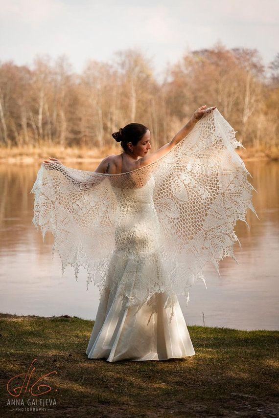 Beaded Knit Shawl Rustic Wedding Shawl Hand Knit Shawl Knit Etsy Wedding Shawl Knitted Shawls Lace Shawl