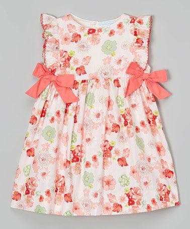 Look what I found on #zulily! Orange Floral Bow Dress - Infant & Toddler #zulilyfinds