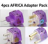 NEW! 4 Pieces HIGH QUALITY AFRICA TRAVEL ADAPTER Pack for ALL countries in AFRICA; SOUTH AFRICA EGYPT MOROCCO TUNISIA KENYA NIGERIA TANZANIA BOTSWANA ZAMBIA NAMIBIA MOZAMBIQUE ZIMBABWE UGANDA RWANDA GHANA ETHIOPIA CONGO MAURITIUS and more / WITH DUAL PLUG-IN PORTS! (WORKS AS TWO-ADAPTERS-IN-ONE!) / Built-in SURGE PROTECTORS - http://www.learnjourney.com/travel-africa-discount-resources-books-guides-free-shipping/new-4-pieces-high-quality-africa-travel-adapter-pack-for-all-cou