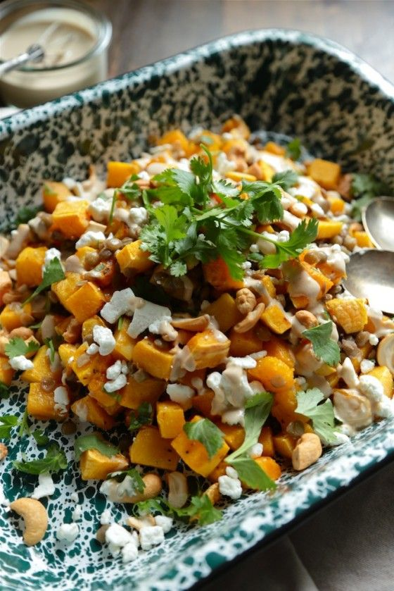 Butternut Squash and Lentil Salad - Country Cleaver
