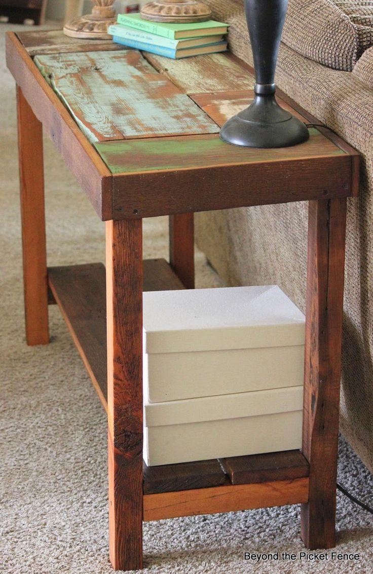 Reclaimed wood sofa table tutorial http bec4 for Sofa table tutorial