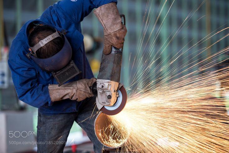 Worker in Factory by SasinTipchai