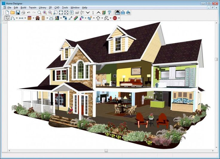 Interior design house design software houseplan 3d home for Exterior house design programs free