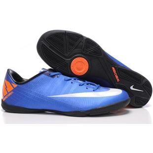 http://www.asneakers4u.com Wholesale Nike Mercurial Superfly III FG Indoor Soccer Cleats Blue Black White Soccer Football Boots