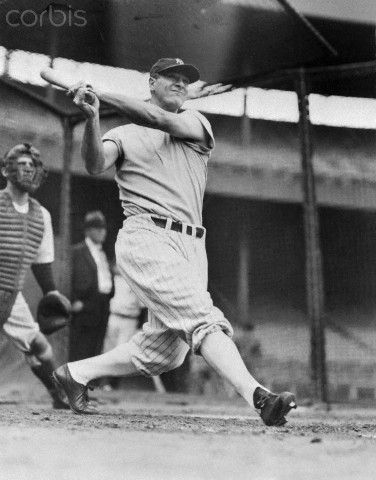 Lou Gehrig in Batting Action