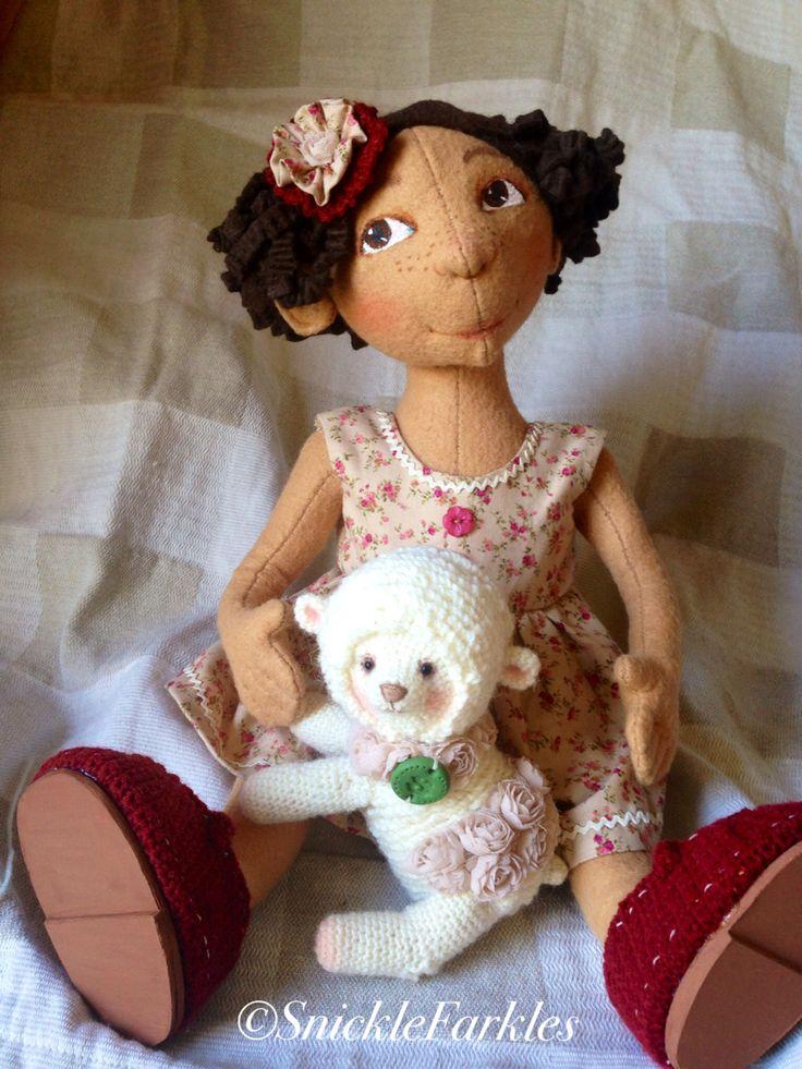 Miss Rosa and her lamb Rosebud