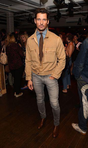 David Gandy attends the Oliver Spencer Vero British GQ 'Buy Now' Catwalk Show…