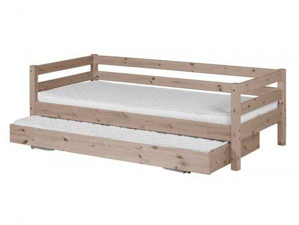 Cama Flexa classic con cama nido 90x190 barniz terra