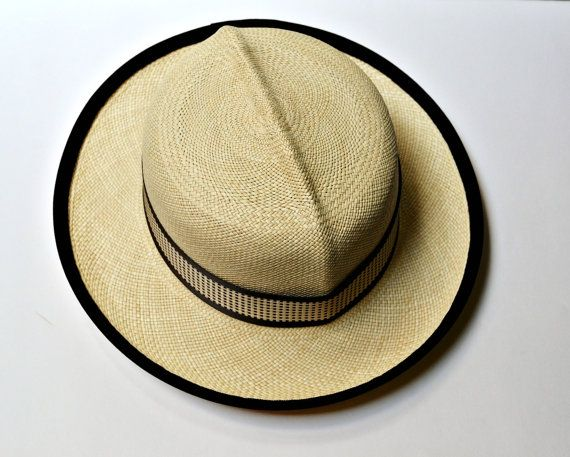 Men's Panama Optimo Hat with Vintage Band - Men's Straw Hat - READY TO SHIP on Etsy, $145.00
