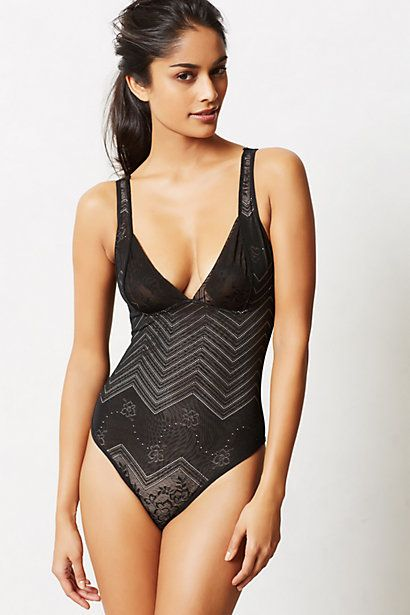 Bodysuit that implies lingerie with print instead of lace ...