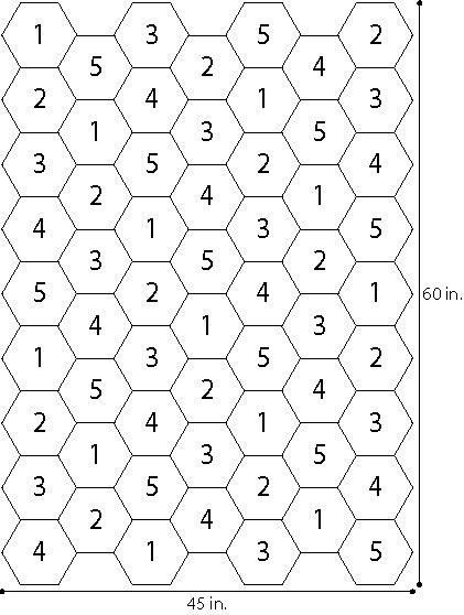 Free Crochet Pattern L32021 Fireworks Hexagon Picnic