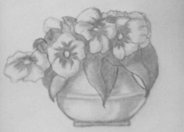 My Sketch Flower Pot My Sketches Pinterest Sketches