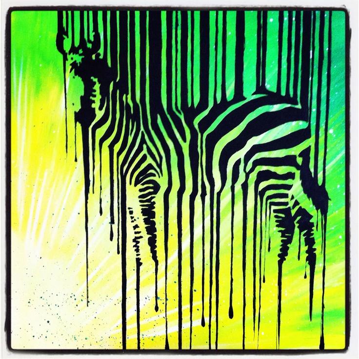 Zebra inspired by another zebra on pinterest :)