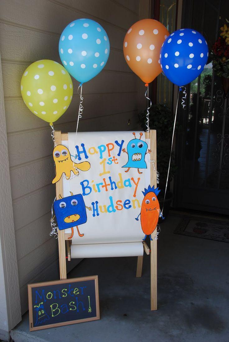 lil monster birthday cake | Cake Pops Galore: Monster Bash