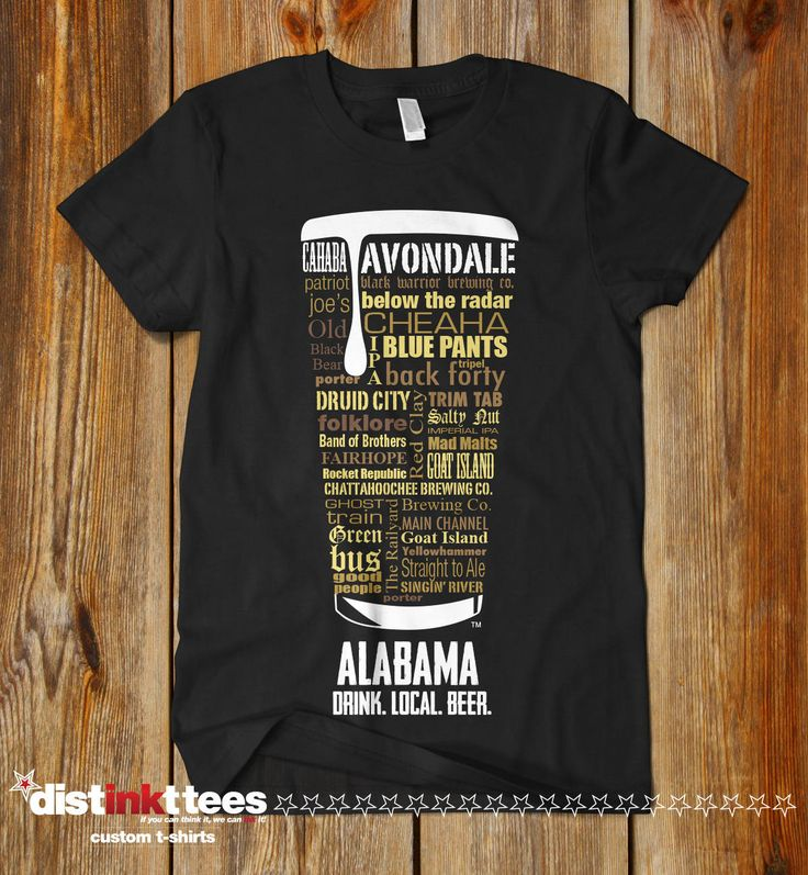 ALABAMA CRAFT BEER Typography T-shirt, Drink Alabama Craft Beer Shirt, Fathers Day, Oktoberfest, Hops Tee, Hoppy shirt by DISTINKTTEES on Etsy