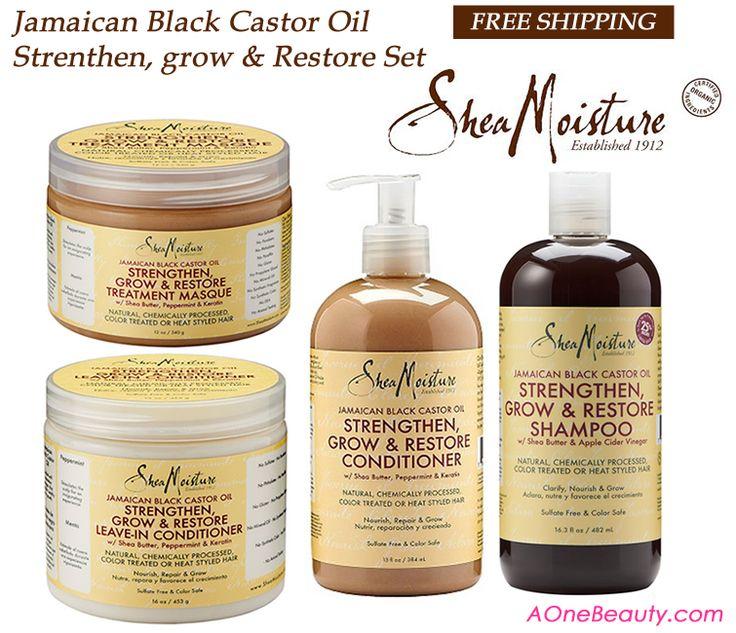 Shea Moisture Jamaican Black Castor Oil 4pc Set